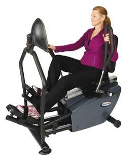 RECUMBENT ELLIPTICAL TRAINERS NuStep T4r Recumbent Cross Trainer Total body workout. Smooth and natural stepping movement. Display is easy to read and use. Sturdy grab ring for support and safety.