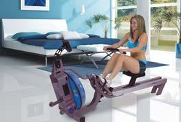 Incline range of -3% to 15%; speed range of 3 mph reverse to 12 mph in 1/10 mph increments 041632 040848 The compact E-316 Fluid Rower delivers the closest thing to real,