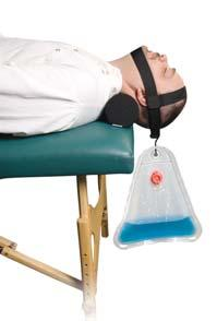 HOME TYPE TRACTION DEVICES Cervical Traction System New weight bag holds water for patient adjustability.
