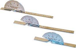 180 degree Goniometer 060050 6 060051 8 060052 14 360 degree Goniometer 060053 14 060056 Measure with only one hand by using your finger, moving the