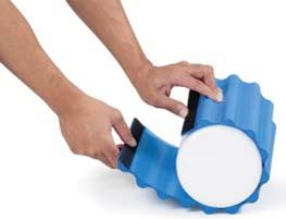 A novel tool for hands-free myofascial release, deep tissue massage and stabilization exercises. Helps increase muscle flexibility and range of motion.
