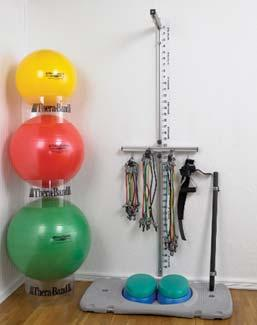 Balls, 2 levels of Stability Trainers, and a complete Accessories Kit with Waist Belt, Assist Straps, Head Strap, Exercise Bar and 2 Accessory Racks.