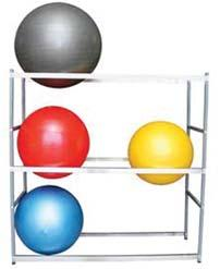 w/ all Steel Construction and Casters 022732 6-Ball Storage Rack w/ all Steel