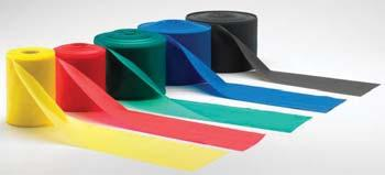 25 Yd. Roll; Latex Free 020520 Yellow; Thin 020521 Red; Medium 020522 Green; Heavy 020523 Blue; Extra Heavy 020524 Black; Special Heavy 50 Yd.