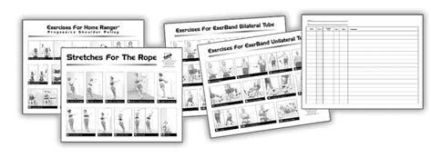 027964 Prescribe home exercise routines and make a copy to chart progress and maintain a patient history.