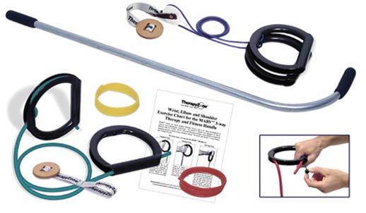 W/ Overhead Pulley System 023040 3 WalSlide 023041 4 WalSlide 023042 5 WalSlide 023043 6 WalSlide Marv handle Shoulder Strength Therapy Kit 3 position Marv handle