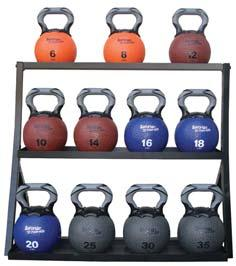 traditional cast iron kettlebells. New handle design offers more freedom and comfort during exercise. Mad of latex free material with uniform size for each weight (8 in diameter).