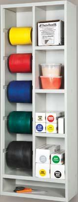 Clinical Supplies STORAGE RACKS (CON T) Vertical Band/Tubing Rac With Shelves Depth Width Height 027196 7.5 15 42.