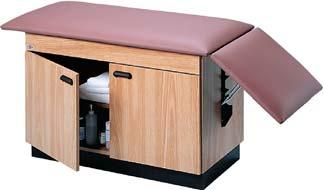 Knob 010397 Paper Dispenser 010398 Paper Cutter 010399 Paper Dispenser and Cutter Combination SPACE-SAVER TREATMENT TABLES 010160 Fully enclosed all-laminate cabinet with 2 hinged doors and
