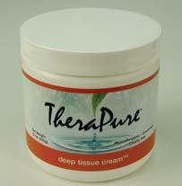 Therapure Deep Tissue Massage Cream Melts to provide optimal resistance in deep tissue techniques Provides excellent emolliency and leaves skin silky