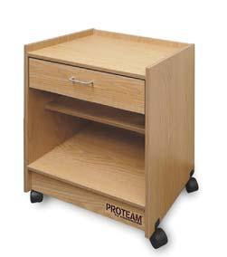 PROTEAM MODULAR UNITS (CON T) Clinical Equipment ProTeam Mega-Carts Maintenance-free laminated surfaces on all cabinet exteriors and interiors.