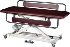 ELECTRIC HI-LO TABLES (CON T) Clinical Equipment Hi-Lo Changing Table 1 Section top piece and side rail that pivot down for easy patient transfer and access.