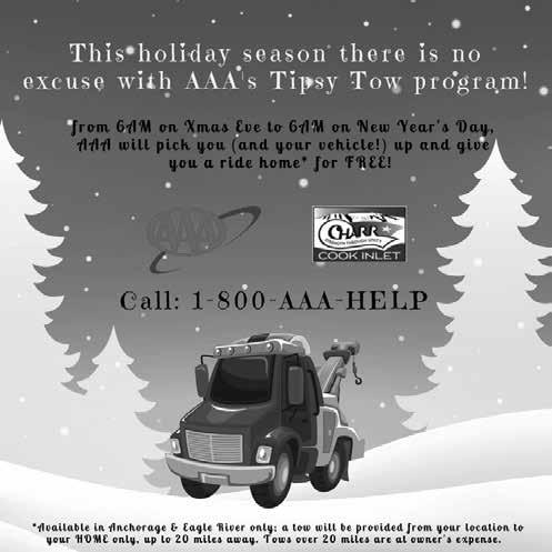 AFFILIATE NEWS Cook Inlet CHARR Cook Inlet CHARR was proud to be able to join forces with AAA once again to promote the Tipsy Tow program for the Anchorage and Eagle River area!