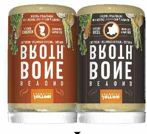 Formulas Beyond Bone Broth (beef and chicken avors) is a delicious drink mix that provides a savory blend of nutrients that go beyond the nutritional bene ts of